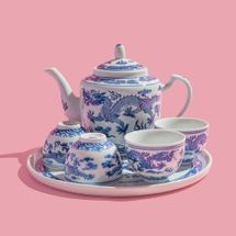 Wing On Wo & Co. Blue-and-White Tea Set