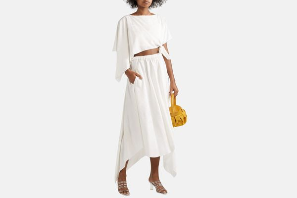 Rosie Assoulin Convertible asymmetric midi dress