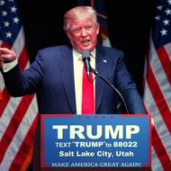 Donald Trump Holds Rally In Utah Ahead Of State's Caucuses