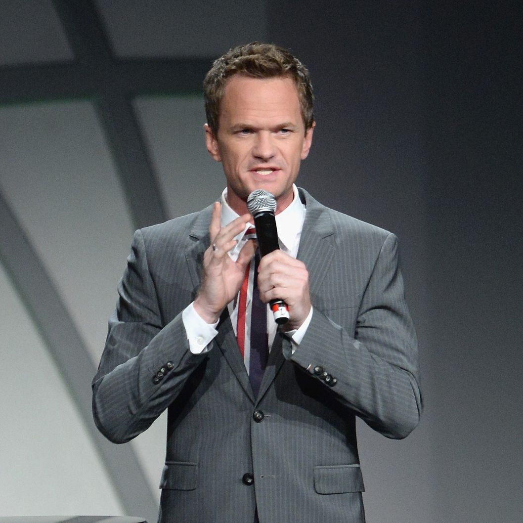 "Neil Patrick Harris speaks at the 20th Annual Race To Erase MS Gala ""Love To Erase MS"" at the Hyatt Regency Century Plaza on May 3, 2013 in Century City, California."