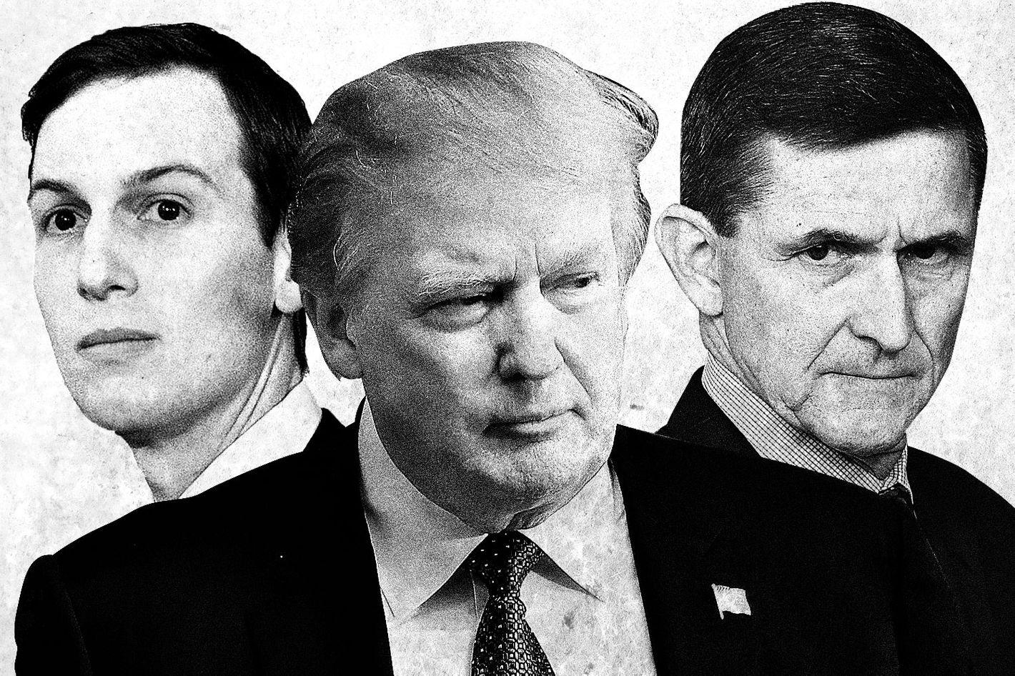 Image result for Images of Flynn and Kushner
