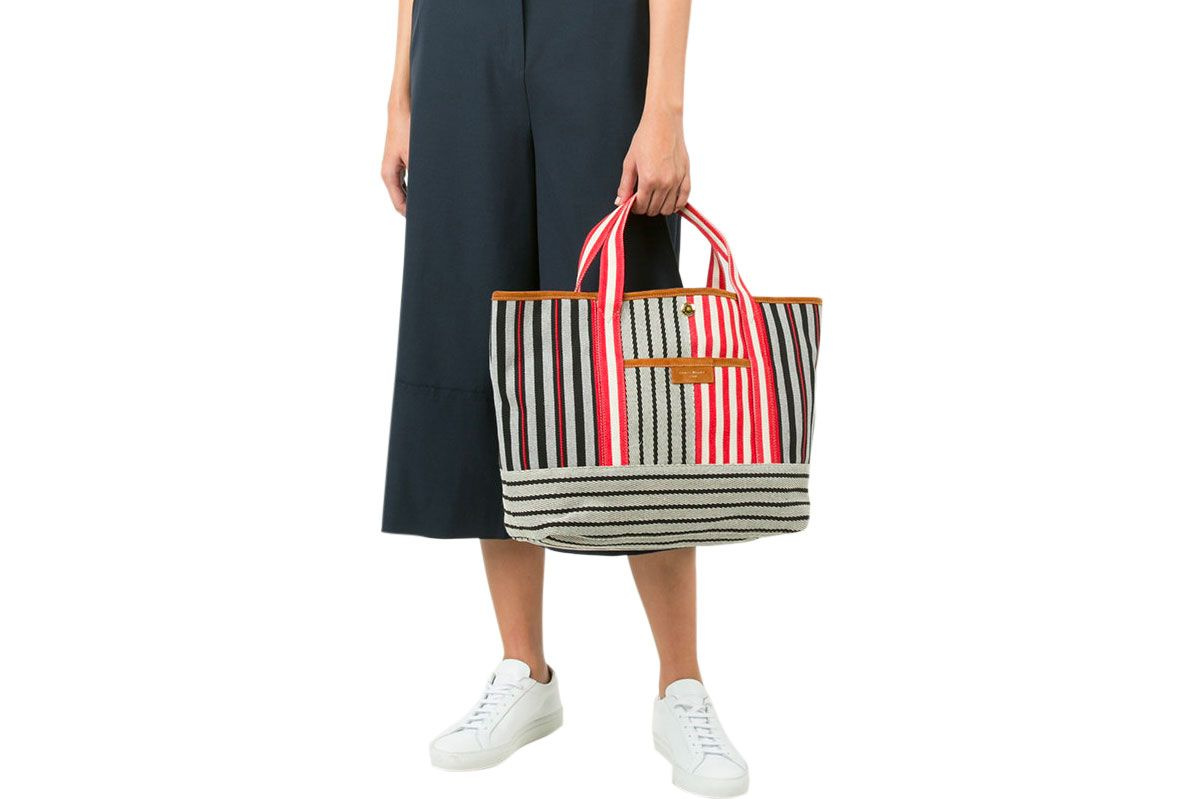 Sonia Rykiel Striped Beach Tote