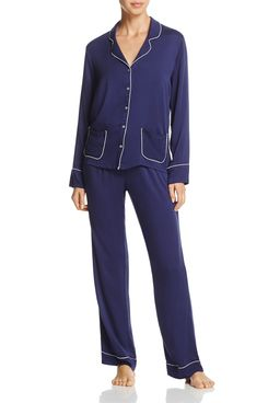 Splendid Women's Notch Collar Long-Sleeved Pajama Set