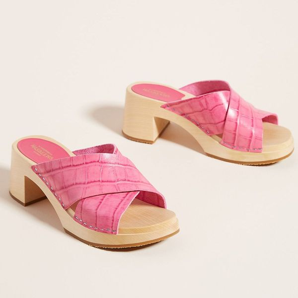 Swedish Hasbeens Anette Heeled Clog Sandals