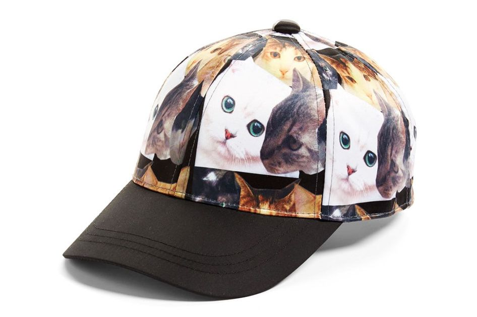 August Hat Cat Collage Baseball Cap