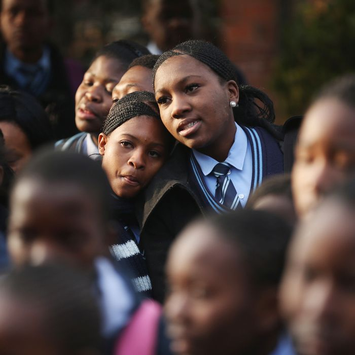 South African schoolgirls.