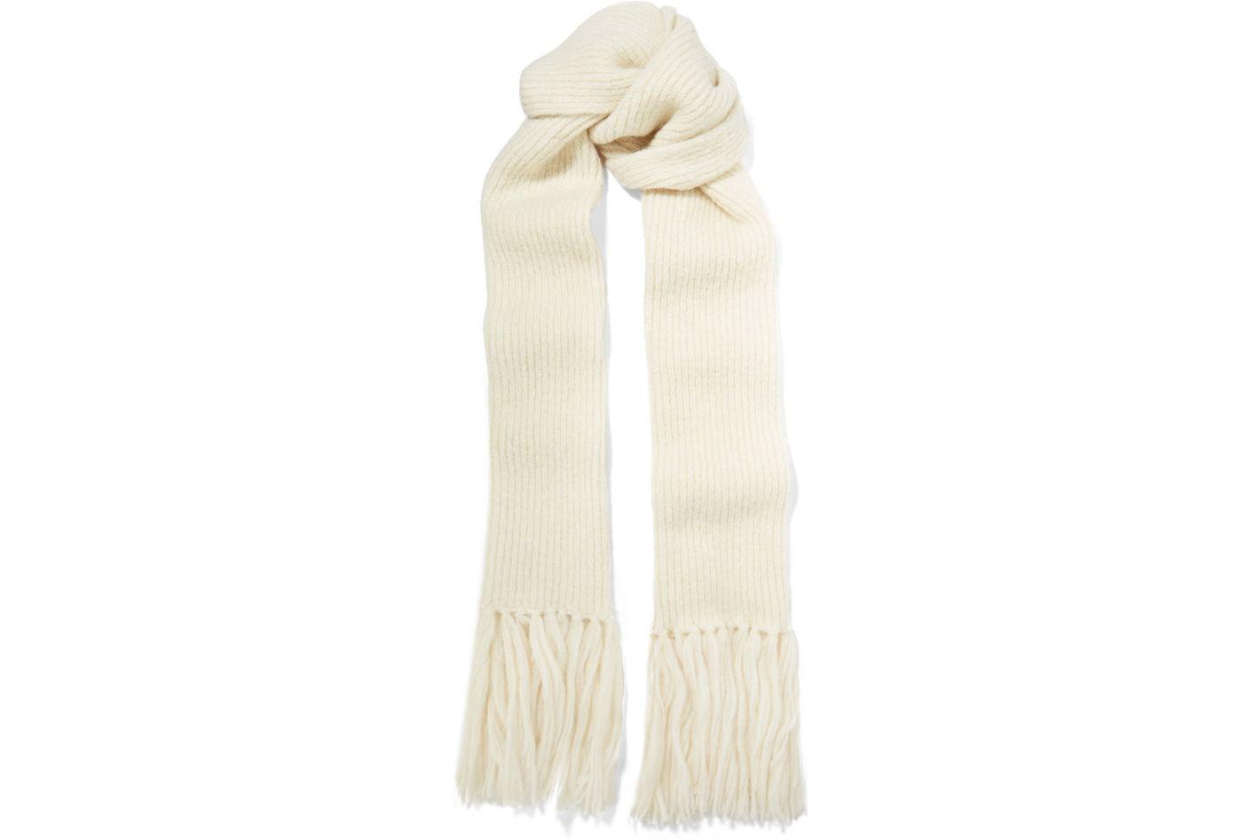 Acne Studios Abby's fringed alpaca-blend scarf
