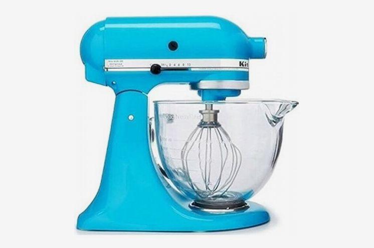 KitchenAid Artisan Series 5-Quart Tilt Head Stand Mixer, Crystal Blue with Glass Bowl