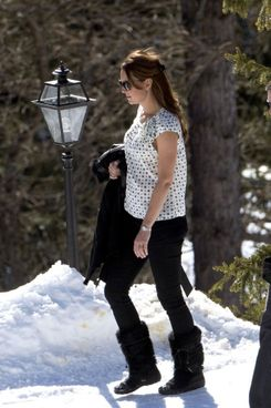 Kate in the Swiss Alps.