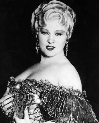 American film actress & sex symbol, Mae West