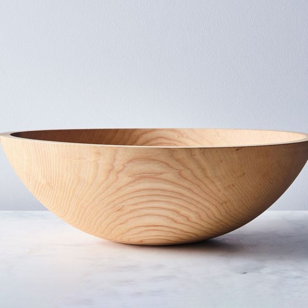 Farmhouse Pottery Handcrafted Wood Bowl