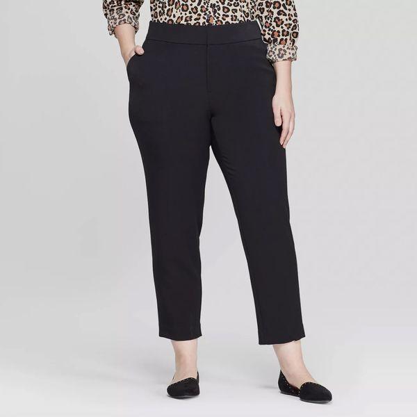 Ava & Viv Women's Plus Size Slim Cropped Pants