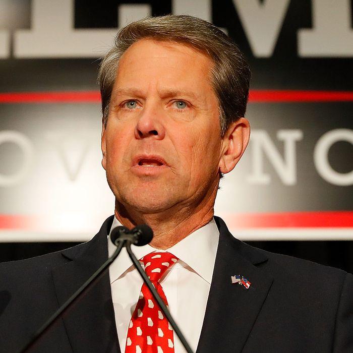 Georgia governor Brian Kemp.