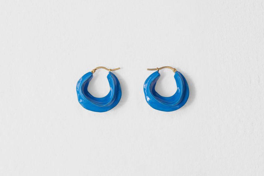 Céline Swirl Small Hoops