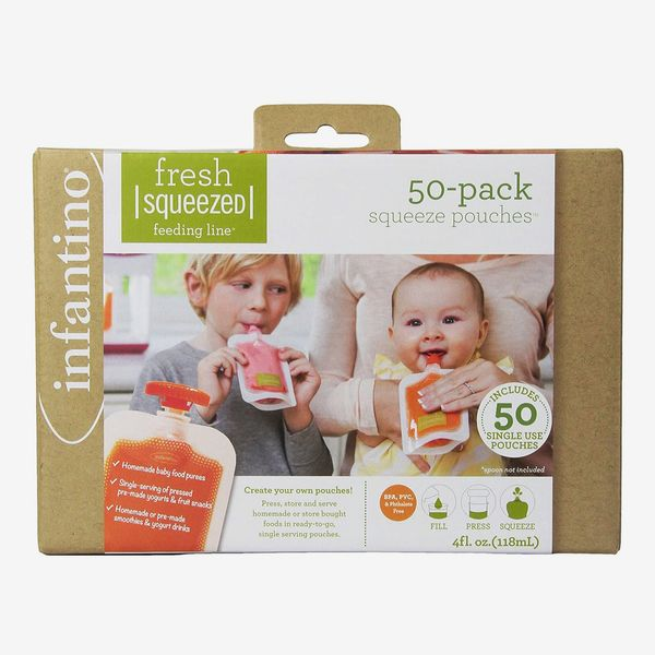 Infantino Disposable Squeeze Pouches - Pack of 50