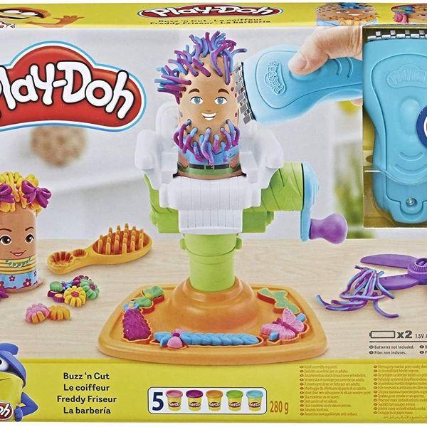 Play-Doh Buzz 'n Cut Fuzzy Pumper Barber-Shop Toy