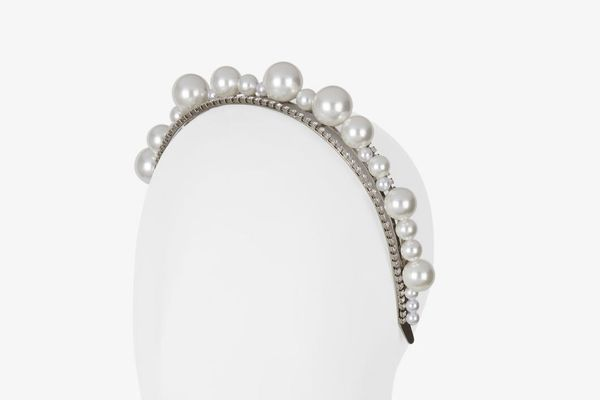 Givenchy Ariana Headband in Pearls and Crystals