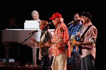 Musicians Brian Wilson, Al Jardine, Mike Love,and  David Marks perform during the Beach Boys 50th Anniversary Concert Tour