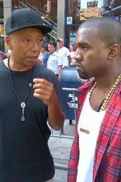 Kanye with protest buddy Russell Simmons.