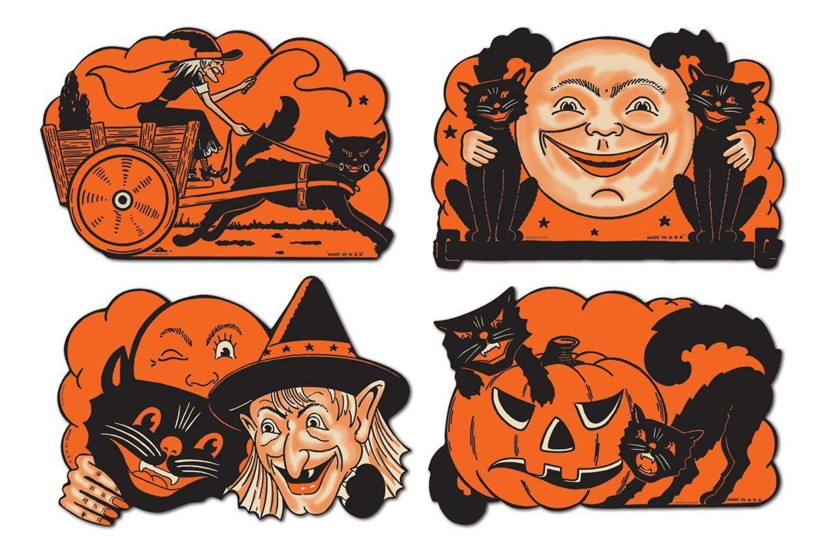 Beistle 12-Pack Halloween Cutouts, 9-Inch