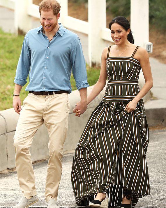 Meghan Markle and Prince Harry on Bondi Beach.