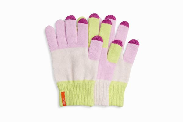 Verloop Pair & Spare Set of 3 Touchscreen Gloves In Lilac Lime