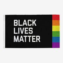 Flags for Good Black Lives Matter + Pride Flag
