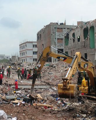 Collapsed Bangladesh factory.