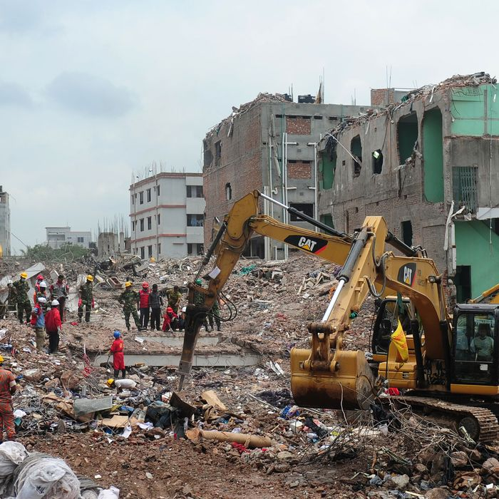 Collapsed factory in Bangladesh.