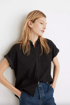 Madewell Denim Rolled-Sleeve Shirt