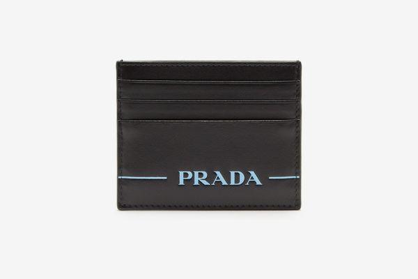 Prada Logo-Debossed Cardholder