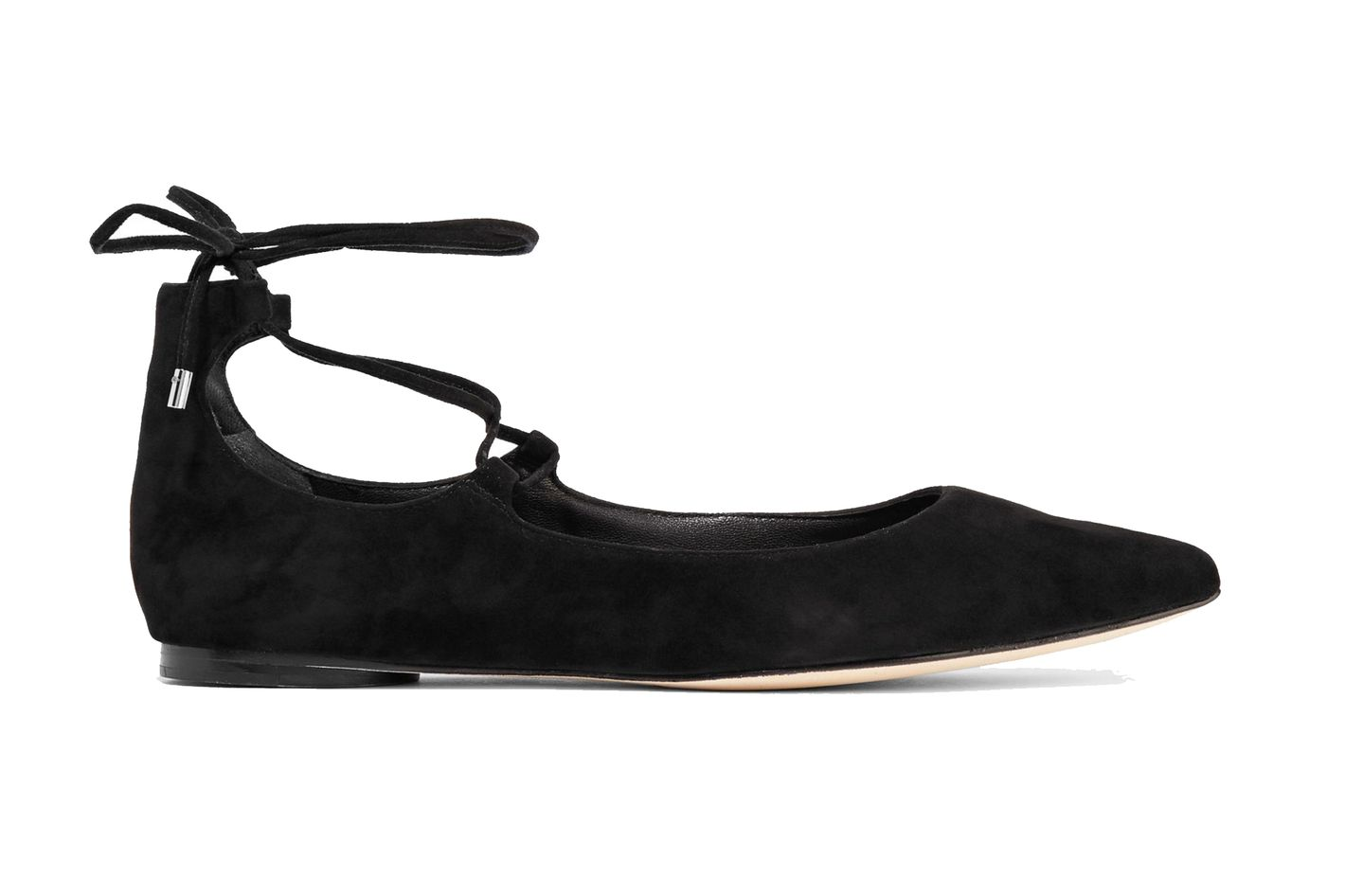 Sigerson Morrison Viata Lace-Up Suede Flats at The Outnet
