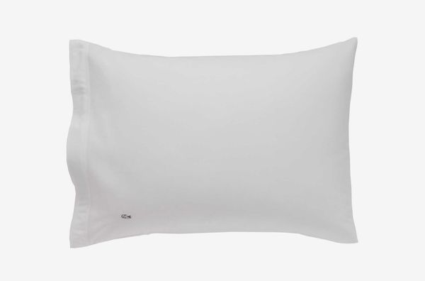 Lacoste Solid Washed Cotton Percale 300-Thread-Count Pillowcases, Set of 2