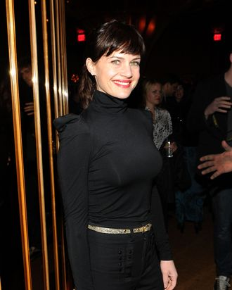NEW YORK - MARCH 05: Carla Gugino attends the after party for the Cinema Society & People StyleWatch with Grey Goose screening of