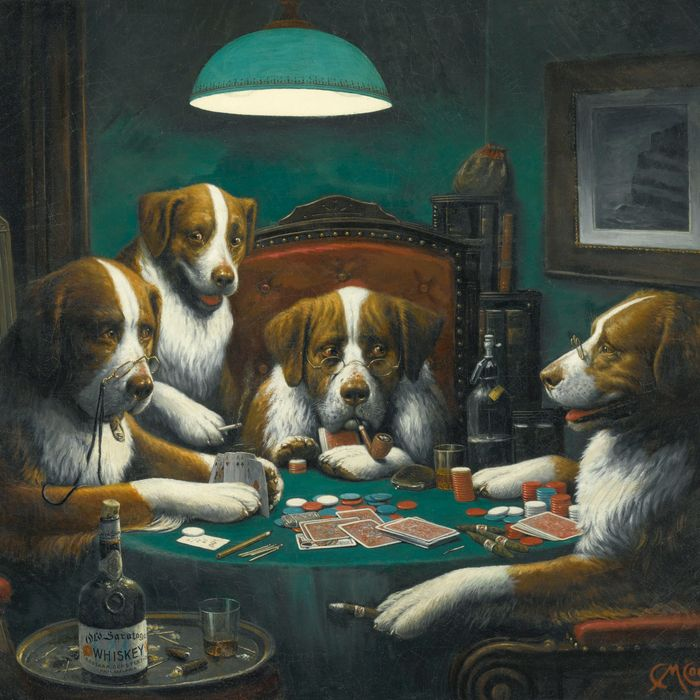 Republican Version of 'Dogs Playing Poker' Is in White House