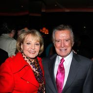Barbara Walters, Regis Philbin==AMAZON PUBLISHING and THE PEGGY SIEGAL COMPANY Host a Release Party for MY MOTHER WAS NUTS: A Memoir by PENNY MARSHALL==The Monkey Bar, New York==September 19, 2012.