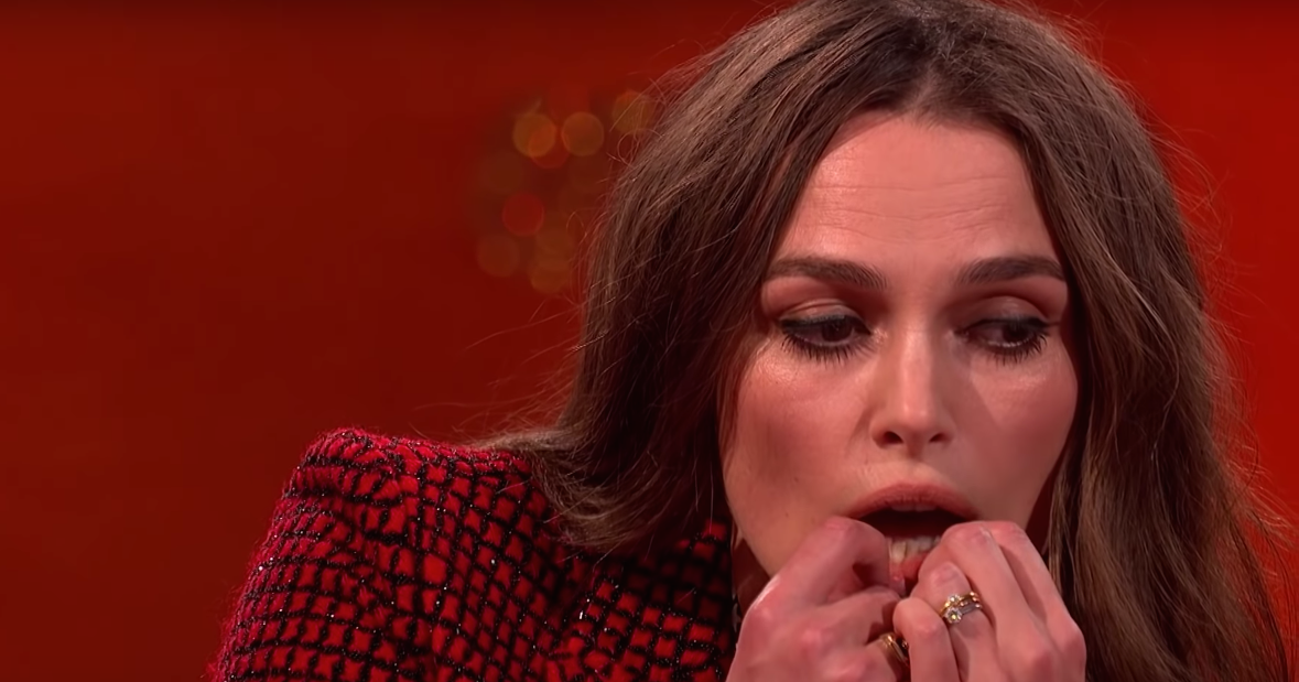 This Video of Keira Knightly Playing Her Teeth Is More Endearing Than Disturbing