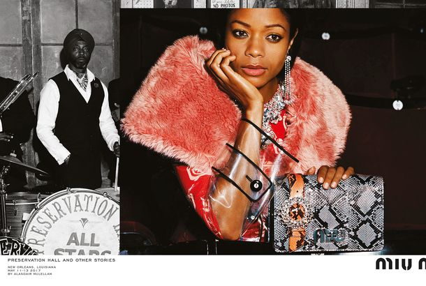 6fedf92c1e3 Naomie Harris and a New Orleans Jazz Band Star in Miu Miu s New CampaignAlso   Kate Moss