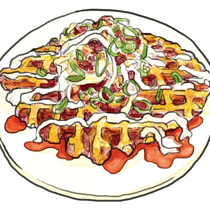 Ganso Yaki's okonomiyaki.