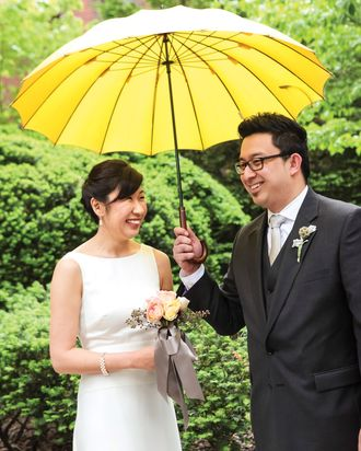 Newlyweds Yasuko Morisaki and Simon Raymundo.