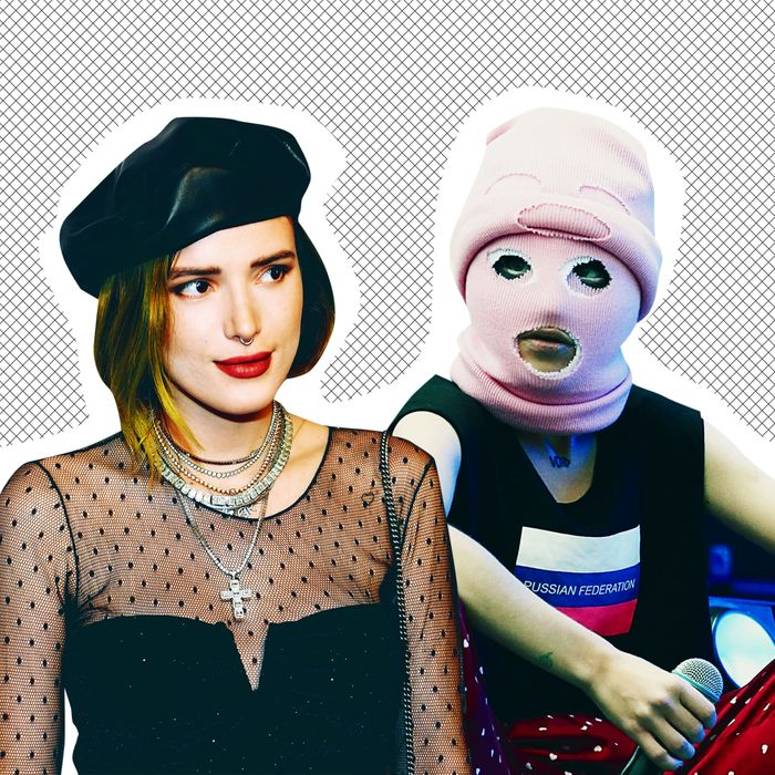 Bella Thorne and a member of Pussy Riot.