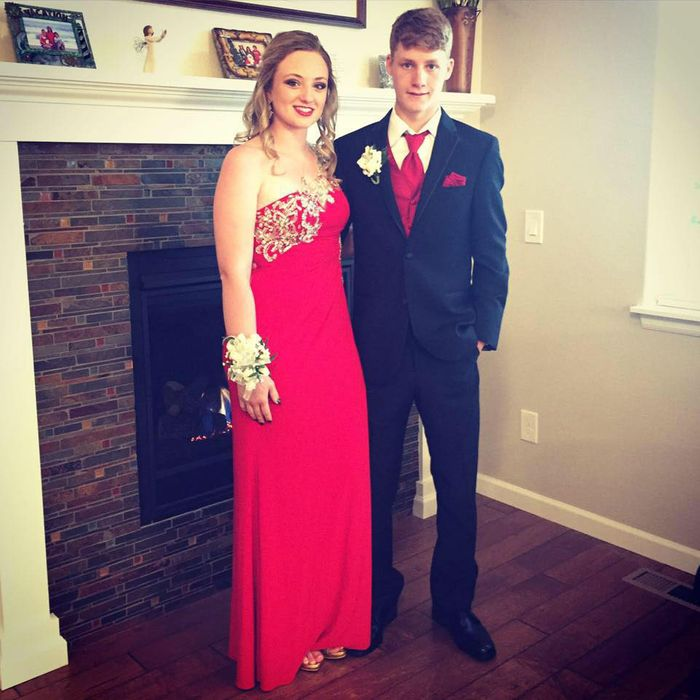 Ashley Doolittle with Tanner Flores.