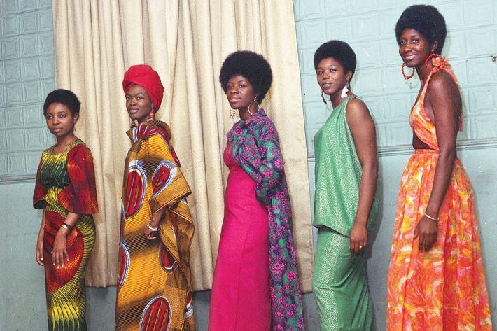 Grandassa models at Harlem's Rockland Palace, 1966.