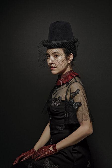 Photo 1 from Alexandra Kleeman dressed as Mina Harker from Bram Stoker's  Dracula.