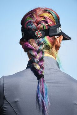 "Michelle Wie's ""unicorn"" hair."