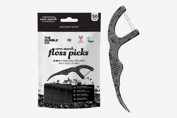The Humble Co. Charcoal Floss Picks (4 Pack)