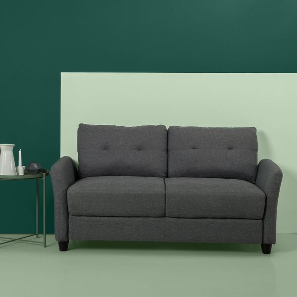 Zinus Ricardo Contemporary Upholstered 62.2 Inch Sofa Couch / Loveseat