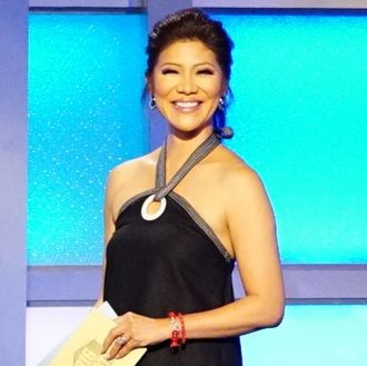 Julie Chen, host of Big Brother on live eviction night July 21. BIG BROTHER airs Sundays and Wednesdays (8:00-9:00 PM, ET/PT); and Thursdays (9:00-10:00 PM, live ET/delayed PT), featuring the live eviction show hosted by Julie Chen. Photo: Sonja Flemming/CBS ©2016 CBS Broadcasting, Inc. All Rights Reserved