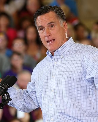 Republican presidential candidate and former Massachusetts Gov. Mitt Romney speaks during campaign event at the Jefferson County Fairgrounds on August 2, 2012 in Golden, Colorado. One day after returning from a six-day overseas trip to England, Israel and Poland, Mitt Romney is campaigning in Colorado before heading to Nevada.