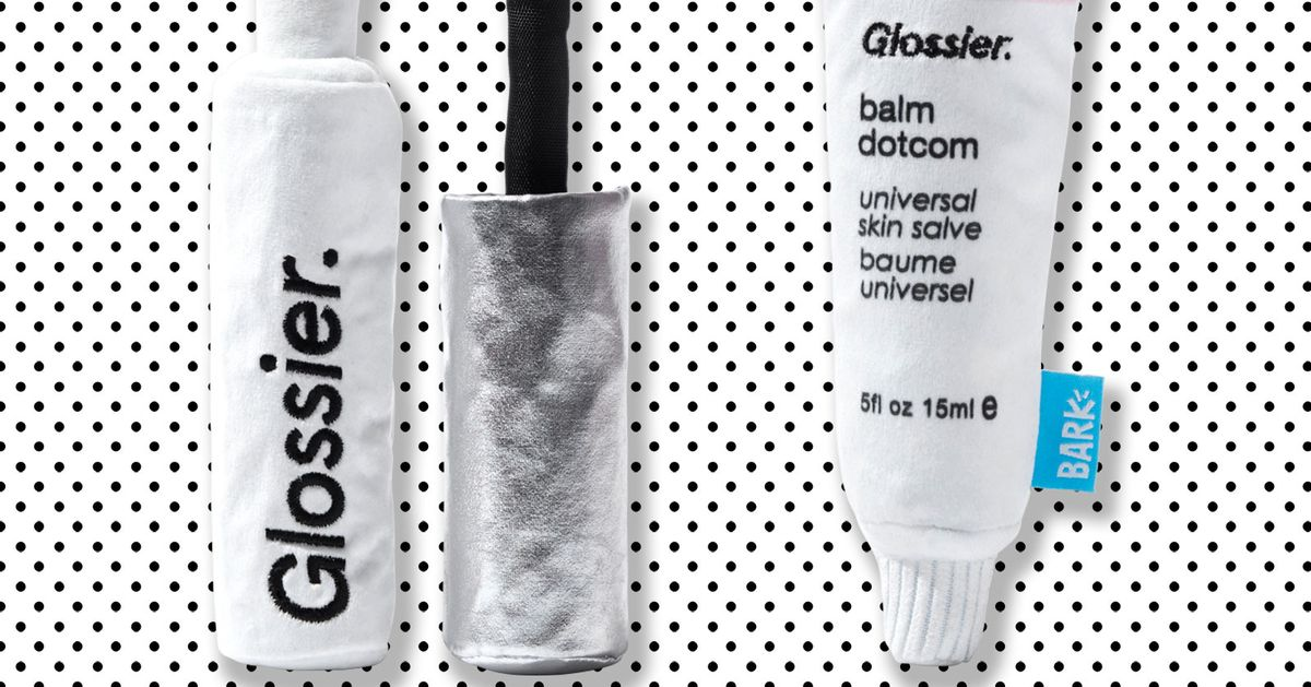 6 Animals Try Glossier-Themed Dog Toys